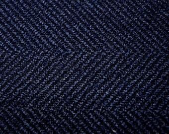 Jumper Indigo The Jumper Indigo Blue Herringbone FabricFabric Co. Fabric
