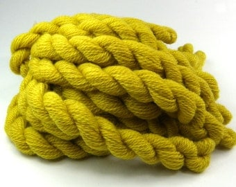 Embroidery yarn, hand-dyed with natural dyes, wool thread, embroidery floss, 20m, dyed with BIRCH LEAVES, bright yellow color, 218