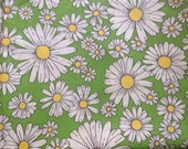Vintage Mod Daisy Fabric Cotton Retro