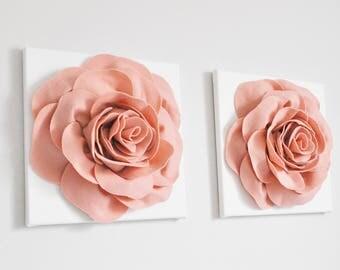 Blush Pink Fabric Flowers Wedding. Large Flower Backdrop Wall. Wedding Flowers. Nursery Wall Art. Wedding Decor Decorations Vintage Rose