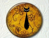 Pocket Mirror Your Coice Black Kitty Silhouette Buy 3 Mirrors Get 1 Mirror Free 434