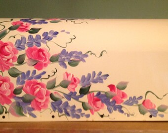 Painted MAILBOX Romantic Roses and wisteria, UV Resistant Paints