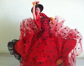 Vintage 1970s Spanish Doll Flamenco