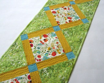 Spring Table Runner, Quilted Table Runner,  Handmade Table Runner, Tablerunner, Home Decor, Floral, Mother's Day Gift, Summer Table Runner