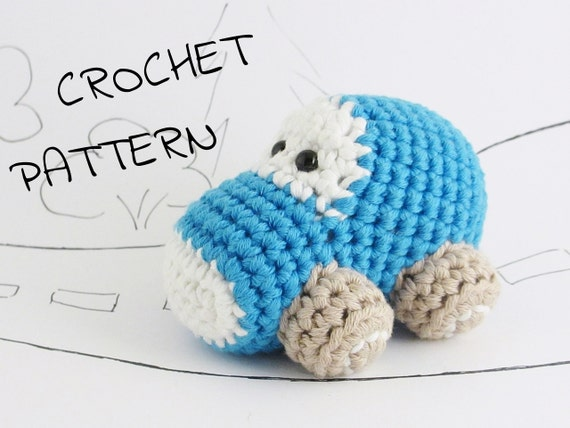 Amigurumi toy car crochet pattern pdf tutorial instant