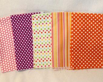 SALE *** Girl Fabrics Fat Quarter Set - 5 fabrics