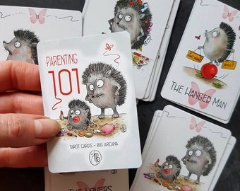 101 PARENTING tarot deck  -  Hedgehogs tarot cards (Big Arcana including one extra card)  Bestseller! - PookieCat