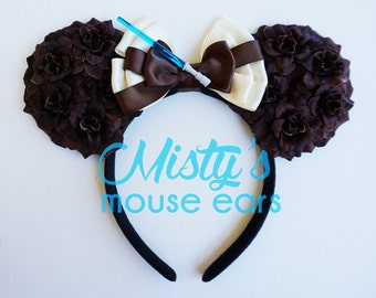 Inspired Rey from Star Wars Rose Mouse Ears Headband