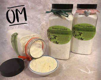 Oatmeal Bath Milk Soak - Aromatherapy - Soothing Organic - Milk Bath - Skin Detox - Skin Treatment - Eczema Soak - Bath & Body - Unscented