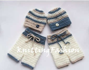 ON SALE 15% SALE Baby Boy Twin Outfits _ NewBorn Baby Twins Outfit _ Newborn Crochet Baby Outfit _ Baby Twins Hospital Outfits_ Photography