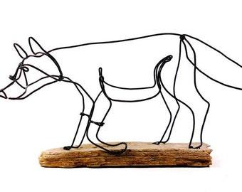 Fox Wire Sculpture, Wire Art, Folk Wire Art, 498330417
