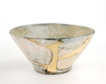 Bowl with Pink Fragmented Surface