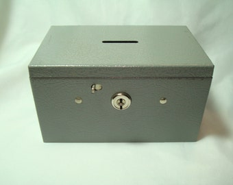 BUDDY PRODUCTS 1970s Metal Cash Box Bank Box.
