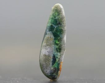 Wavelite Stone Natural Green Gemstone with Variscite Matrix Rocks Crystals and Gems Bezel Set Wire Wrap Embroidery (20683)