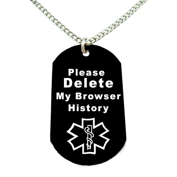 please delete my browser history necklace funny gift geeky. Black Bedroom Furniture Sets. Home Design Ideas