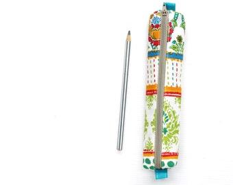 Colorful Bohemian Style Pencil Case, Small Cotton Zipper Pouch, Small Cosmetic Case