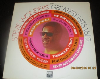 Stevie Wonder NM vinyl - Greatest Hits Volume 2 - Original Edition -  Lp in NM- Condition
