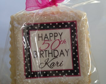 Birthday favor gift 50th 40th 60th 70th 80th 90th cookie