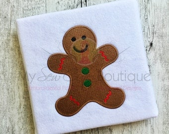 Gingerbread Embroidery Designs - Machine Christmas Holiday Designs - 8 Sizes - Instant Download