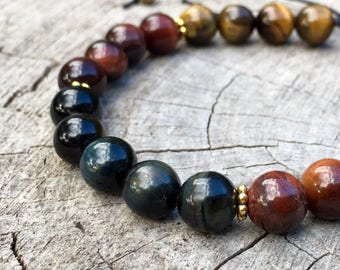 EMPOWERED- Tiger's Eye Wrist Mala Bracelet.