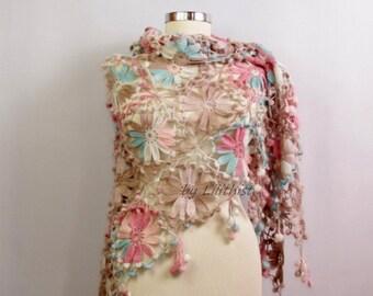 Wedding Shawl, Crochet Shawl, Bridal Shawl, Crochet Lace Shawl, Romantic Bridal Wrap, Crochet Wrap, Bridal Shrug Bolero, Wedding Cover Up