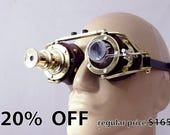 Steampunk Goggles Theatrical Goth Industrial Brass Cosplay LARP Telescopic  Telescope BLK