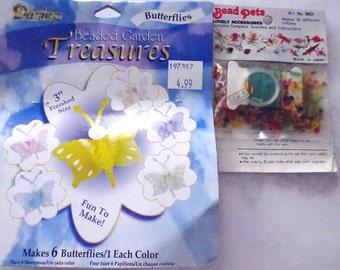 Bead Kits Darice Beaded Butterflies-Bead Pets makes 20 Tiny Animals Swan, Frog & More
