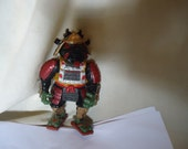Vintage 1993 TMNT Teenage Mutant Ninja Turtles Samurai Raphael Action Figure Toy by Mirage Studios, Playmate, collectable