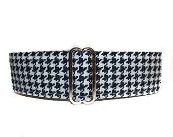 2 Inch Martingale Collar, Houndstooth Martingale Collar, Houndstooth Dog Collar, Martingale Dog Collar, Greyhound Martingale Collar
