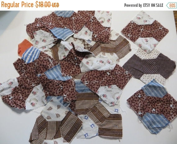 ON SALE Antique Quilt Squares-Bow Ties