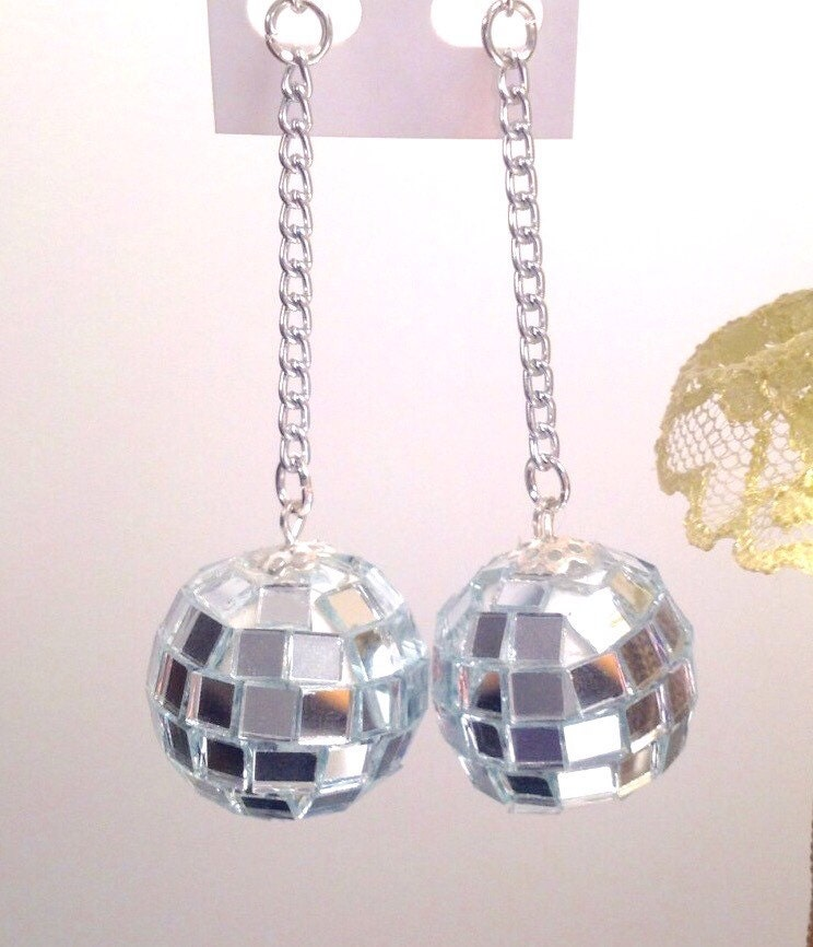 Disco Ball/Disco Ball Earrings/Disco Diva/Mirrored Disco