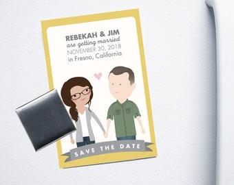 Save the Date Custom Cartoon printable design - Decree design