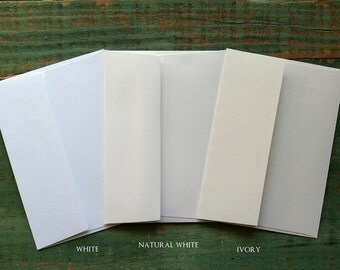 25 A1 Envelopes: 25 Recycled and Eco-Friendly Envelopes, 4bar envelopes, 3 5/8 x 5 1/8 (9.2 x 13 cm), white, natural white or ivory