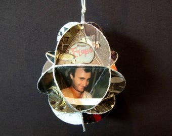 Rock Drummers Album Cover Ornament Made Of Record Jackets