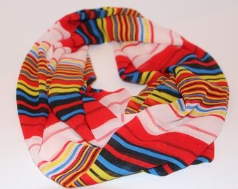 Striped Light Weight Infinity Scarf