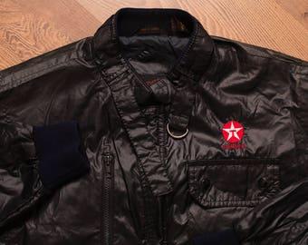 Texaco Star Logo Windbreaker Jacket, Vintage 80s, Petroliana, Gasoline Memorabilia, Gas Apparel, Upstream Outerwear, Cafe Racer, Biker