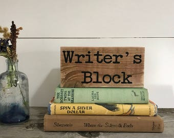 Writer's Block - Paper Weight for Writer - Gift for Author - Bookworm Gift - Librarian Gift - Teacher Gift
