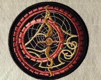 "Steampunk Astrolabe Iron on Patch 4"""