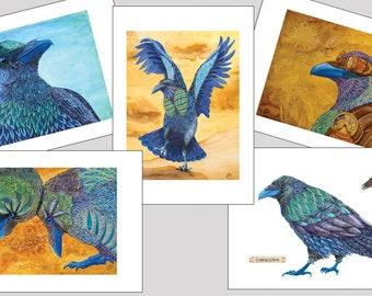Raven Art Note Card Set A