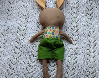 SALE*** Brown boy bunny with green shorts
