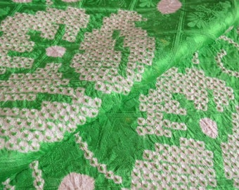 Japanese pure silk cloth from Kyoto Green No.42-6