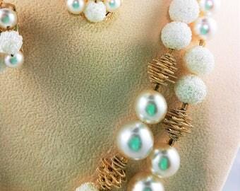 Beautiful Sugar Bead Necklace & Earring Set
