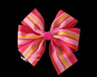 Heatwave Hair Bow, Pinwheel Hair Bow Clip, Girls Hair Bow, Toddler Hair Bows, Boutique Bow, Pinwheel Hair Clip, Hair Bows for Girls, Hairbow