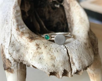 Green Onyx Stacker Rings