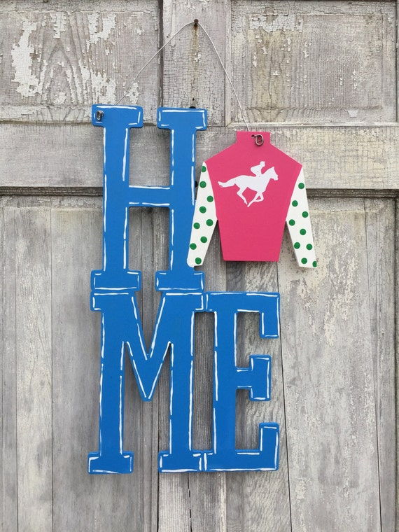 Derby 2017, Kentucky, Home, horseshoe, hand painted, derby, horse lover, welcome sign, door hanger, derby party decoration