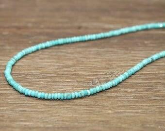 Sleeping Beauty Turquoise Necklace, Arizona, Turquoise, Beaded, Sleeping Beauty Turquoise Jewelry, December Birthstone