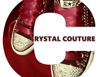 Rich as Wine Burgundy Pearl and Crystal Converse Shoes