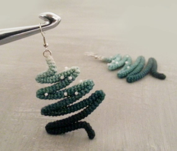 Christmas Tree Earrings Snowy Pines Winter Earrings Holiday Christmas Gift, Novelty Earrings Christmas Jewelry Stocking Stuffer