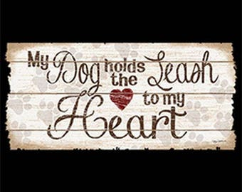 My Dog Holds The Leash To My Heart on Womens Short Sleeve  Long Sleeve  or Tank Top  21254HD2