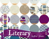 Fat quarter bundle from the Literary Fabric Collection by Heather Givans for Windham Fabrics- 25 pieces